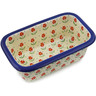 1-inch Stoneware Rectangular Baker with Handles - Polmedia Polish Pottery H2584K