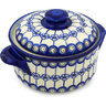 10-inch Stoneware Baker with Cover - Polmedia Polish Pottery H0439H