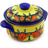10-inch Stoneware Baker with Cover - Polmedia Polish Pottery H0912F
