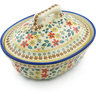 10-inch Stoneware Baker with Cover - Polmedia Polish Pottery H3060J