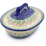 10-inch Stoneware Baker with Cover - Polmedia Polish Pottery H3777E