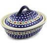10-inch Stoneware Baker with Cover - Polmedia Polish Pottery H7573A