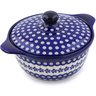 10-inch Stoneware Baker with Cover with Handles - Polmedia Polish Pottery H5967I