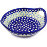 10-inch Stoneware Bowl with Handles - Polmedia Polish Pottery H0834F