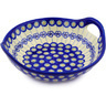 10-inch Stoneware Bowl with Handles - Polmedia Polish Pottery H0905F
