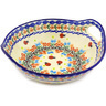 10-inch Stoneware Bowl with Handles - Polmedia Polish Pottery H2112G