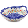 10-inch Stoneware Bowl with Handles - Polmedia Polish Pottery H2230J