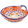10-inch Stoneware Bowl with Handles - Polmedia Polish Pottery H2688J