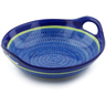 10-inch Stoneware Bowl with Handles - Polmedia Polish Pottery H3078J