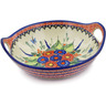 10-inch Stoneware Bowl with Handles - Polmedia Polish Pottery H4751K