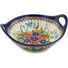 10-inch Stoneware Bowl with Handles - Polmedia Polish Pottery H4969I