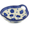 10-inch Stoneware Bowl with Handles - Polmedia Polish Pottery H5378F
