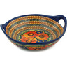 10-inch Stoneware Bowl with Handles - Polmedia Polish Pottery H5502F