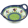 10-inch Stoneware Bowl with Handles - Polmedia Polish Pottery H5874I