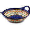 10-inch Stoneware Bowl with Handles - Polmedia Polish Pottery H8137I