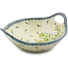 10-inch Stoneware Bowl with Handles - Polmedia Polish Pottery H8138I