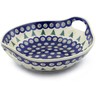 10-inch Stoneware Bowl with Handles - Polmedia Polish Pottery H8832E
