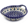 10-inch Stoneware Bowl with Handles - Polmedia Polish Pottery H8833E