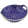 10-inch Stoneware Bowl with Handles - Polmedia Polish Pottery H9204F