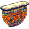 10-inch Stoneware Candle Holder - Polmedia Polish Pottery H1333E