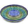 10-inch Stoneware Chip and Dip Platter - Polmedia Polish Pottery H4727G
