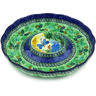 10-inch Stoneware Chip and Dip Platter - Polmedia Polish Pottery H5370G