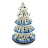 10-inch Stoneware Christmas Tree Candle Holder - Polmedia Polish Pottery H2046J