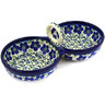 10-inch Stoneware Condiment Server - Polmedia Polish Pottery H8469D
