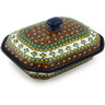 10-inch Stoneware Dish with Cover - Polmedia Polish Pottery H2132H