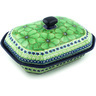 10-inch Stoneware Dish with Cover - Polmedia Polish Pottery H4790H