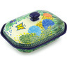 10-inch Stoneware Dish with Cover - Polmedia Polish Pottery H5659G