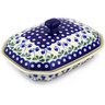 10-inch Stoneware Dish with Cover - Polmedia Polish Pottery H8936E