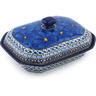 10-inch Stoneware Dish with Cover - Polmedia Polish Pottery H8970G