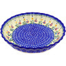10-inch Stoneware Fluted Pie Dish - Polmedia Polish Pottery H0478C
