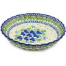 10-inch Stoneware Fluted Pie Dish - Polmedia Polish Pottery H0708H