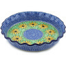 10-inch Stoneware Fluted Pie Dish - Polmedia Polish Pottery H1068H