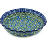 10-inch Stoneware Fluted Pie Dish - Polmedia Polish Pottery H1079H