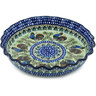 10-inch Stoneware Fluted Pie Dish - Polmedia Polish Pottery H1083H