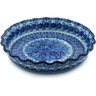 10-inch Stoneware Fluted Pie Dish - Polmedia Polish Pottery H1087H
