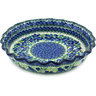 10-inch Stoneware Fluted Pie Dish - Polmedia Polish Pottery H1088H
