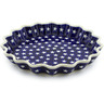 10-inch Stoneware Fluted Pie Dish - Polmedia Polish Pottery H4484C