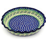 10-inch Stoneware Fluted Pie Dish - Polmedia Polish Pottery H4512D