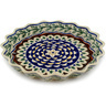 10-inch Stoneware Fluted Pie Dish - Polmedia Polish Pottery H6133C