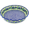 10-inch Stoneware Fluted Pie Dish - Polmedia Polish Pottery H6384D