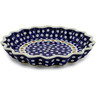 10-inch Stoneware Fluted Pie Dish - Polmedia Polish Pottery H7598A