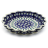10-inch Stoneware Fluted Pie Dish - Polmedia Polish Pottery H7599A