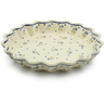 10-inch Stoneware Fluted Pie Dish - Polmedia Polish Pottery H8685A