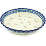 10-inch Stoneware Fluted Pie Dish - Polmedia Polish Pottery H9220F