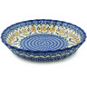 10-inch Stoneware Fluted Pie Dish - Polmedia Polish Pottery H9755H