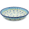 10-inch Stoneware Fluted Pie Dish - Polmedia Polish Pottery H9792H